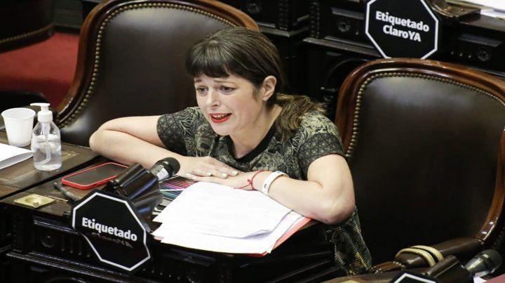 """La diputada por el Frente de Todos (FdT) Carolina Gaillard comentó que la Ley de Etiquetado Frontal """"promueve la alimentación saludable y empodera a la ciudadanía garantizando el derecho a la información"""""""