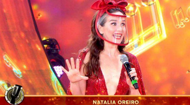 Natalia Oreiro desplegó toda su simpatía y alegría en el Cantando 2020.