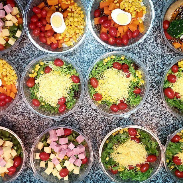 Ensaladas frescas y nutritivas