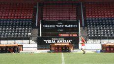 La visera Tata Martino, escenario de la asamblea.