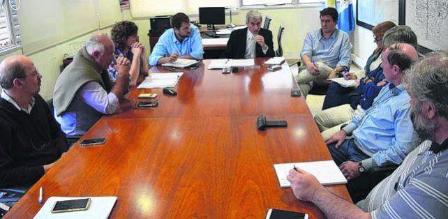 Reunión técnica. Se hizo en Rosario en el área de Infraestructura.
