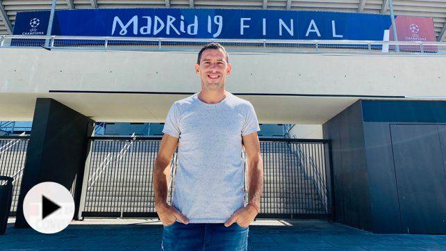 Furor por Maxi Rodríguez en la previa de la Champions en Madrid