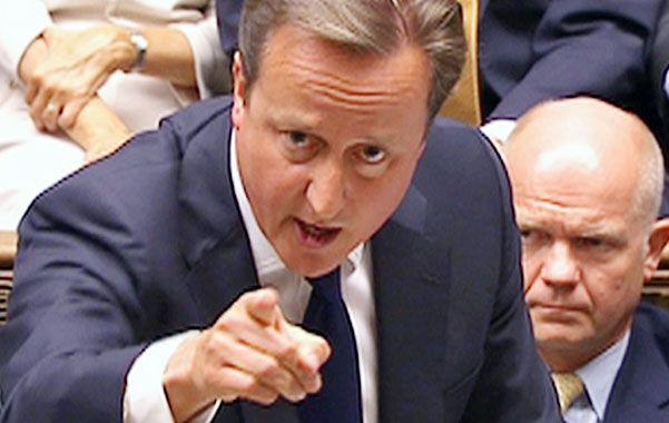 Duro revés. Cameron no convenció al Parlamento sobre sus planes.