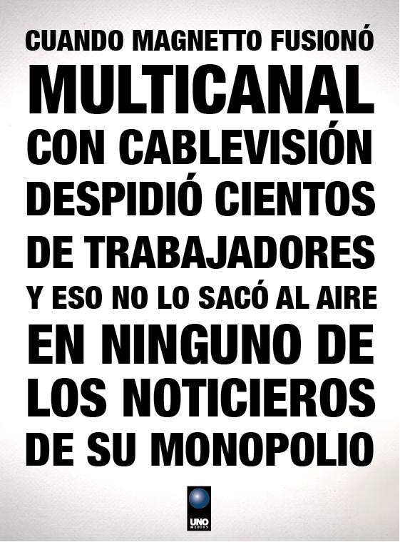 La fusión del monopolio Clarín y Cablevisión dejó centenares de empleados en la calle