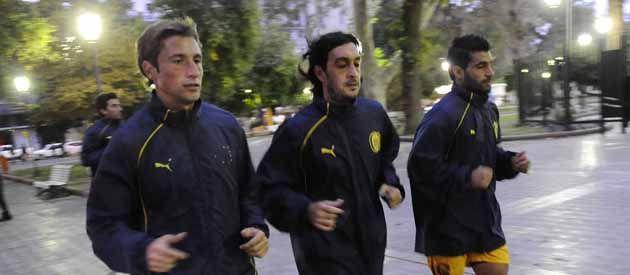Los muchachos de Arroyito no paran tras el triunfo ante Belgrano y entrenan duro en San Juan.
