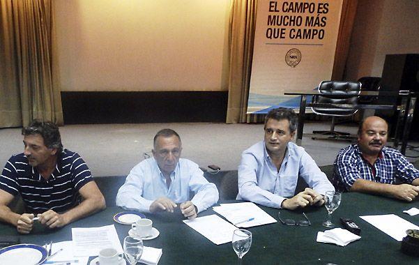 Ruralistas. Reunión entre representantes de las cuatro entidades.