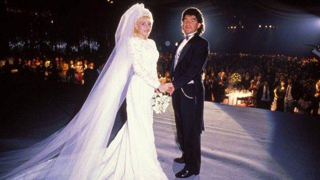 Claudia Villafañe contó qué hizo con el vestido del casamiento con Diego Maradona