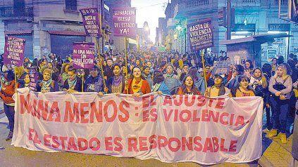 Reclamo. Las organizaciones feministas vienen exigiendo el fin de la violencia machista.