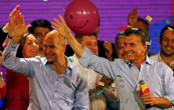 Macri celebró con Larreta la buena performance del PRO en las Paso.