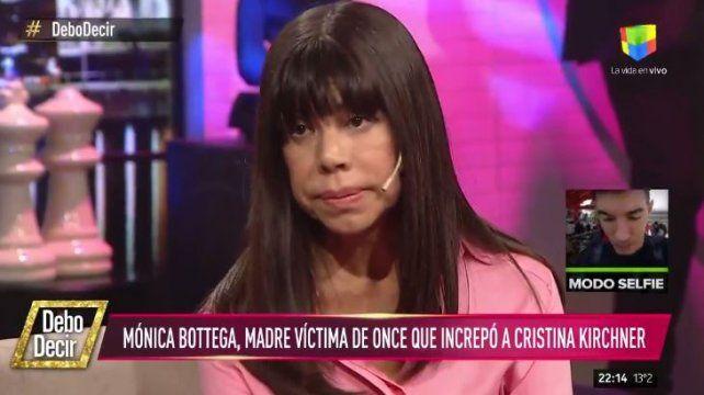 Santiago y mi hija Tatiana están unidos por la desaparición y la corrupción, dijo la mamá que increpó a Cristina