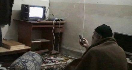 El Pentágono difundió videos caseros de Bin Laden en su refugio paquistaní