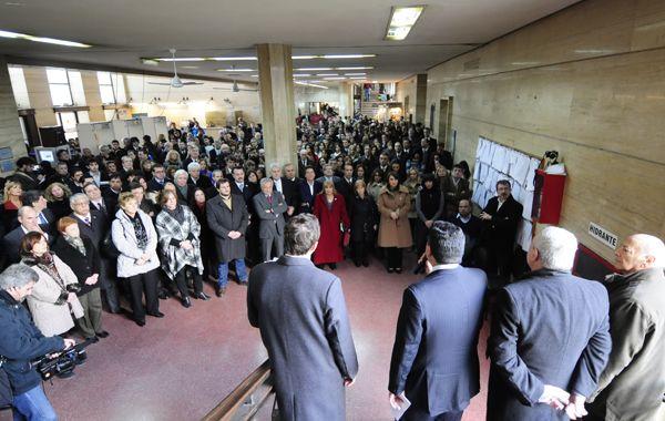 El acto se realizó en horas del mediodía en los tribunales de Balcarce y Pellegrini.