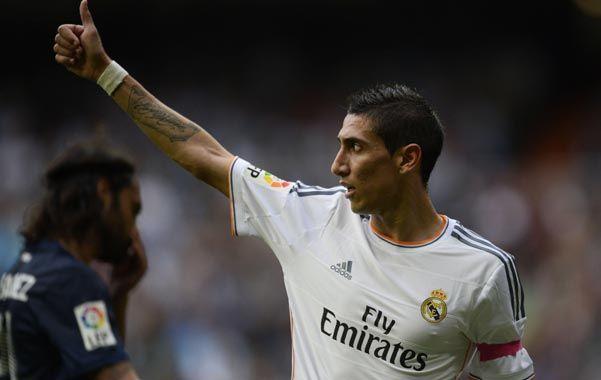 El rosarino marcó el primer gol de la victoria merengue.