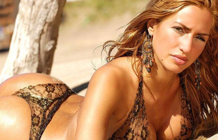 La vedette lució su cuerpo con un sensual culotte.