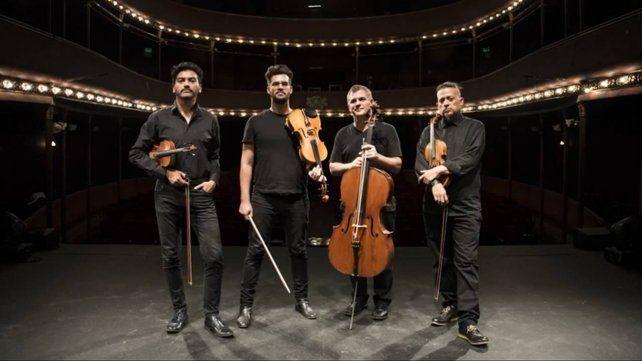"""El Cuarteto de Cuerdas de la Universidad Nacional de Tres de Febrero presenta el disco """"Los vagabundos del Dharma."""