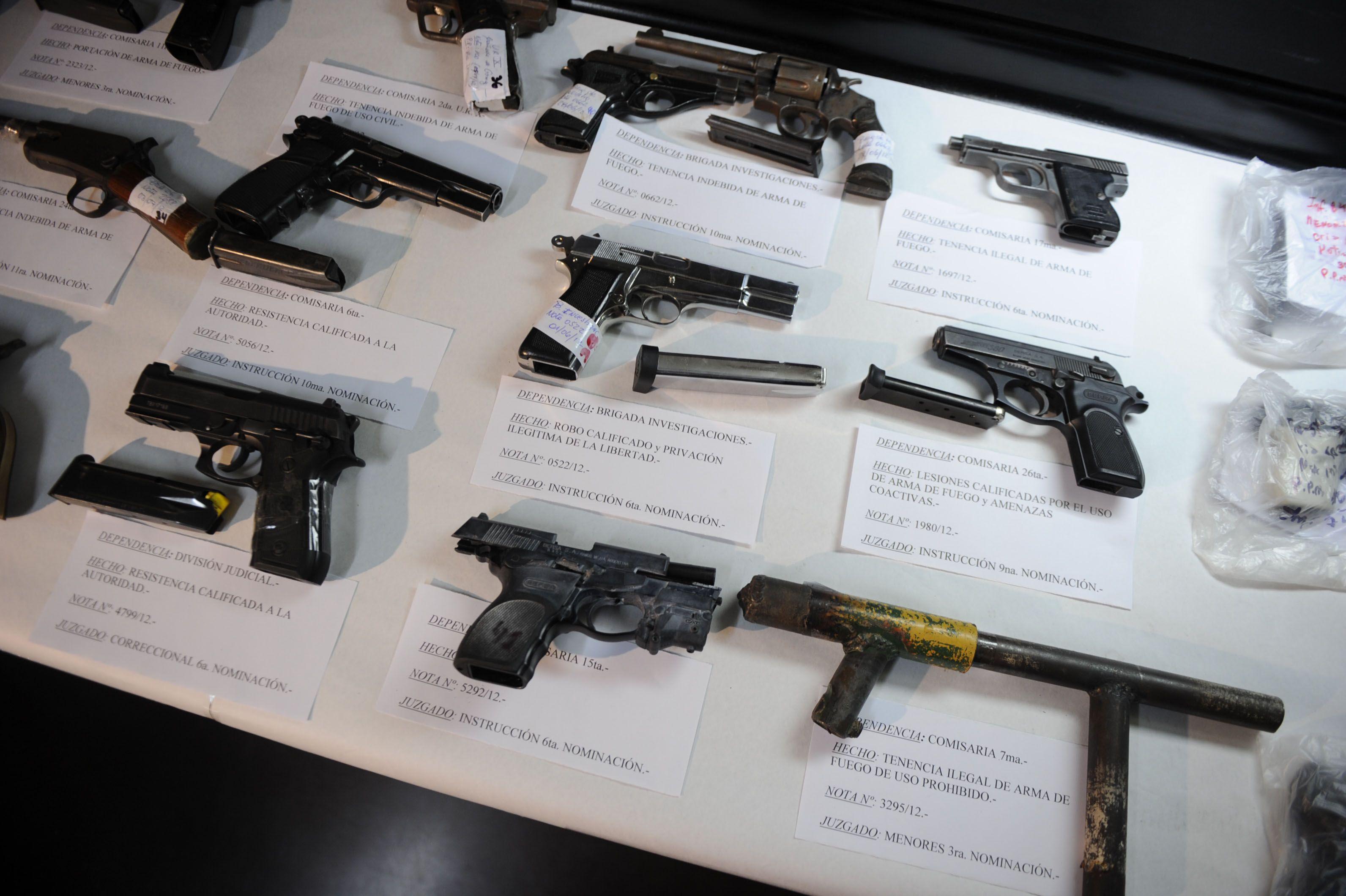 El programa apunta al desarme y a atacar el mercado negro de armas que luego son usadas por la delincuencia.(Foto: C.M.Lovera)