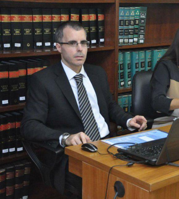 Fiscal. Martín Castellano hizo la acusación en los Tribunales de Rafaela.