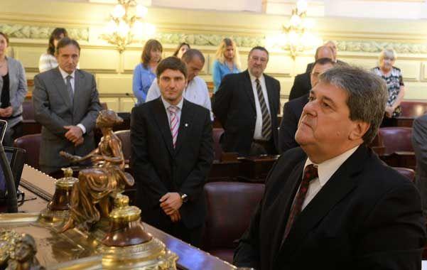 """Agradecido. Luis Rubeo agradeció haber sido """"honrado"""" por sus pares."""