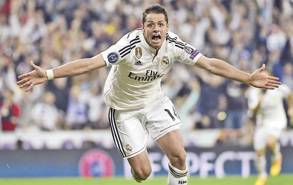 El héroe. El delantero mexicano Chicharito Hernández marcó el gol del triunfo del conjunto merengue.