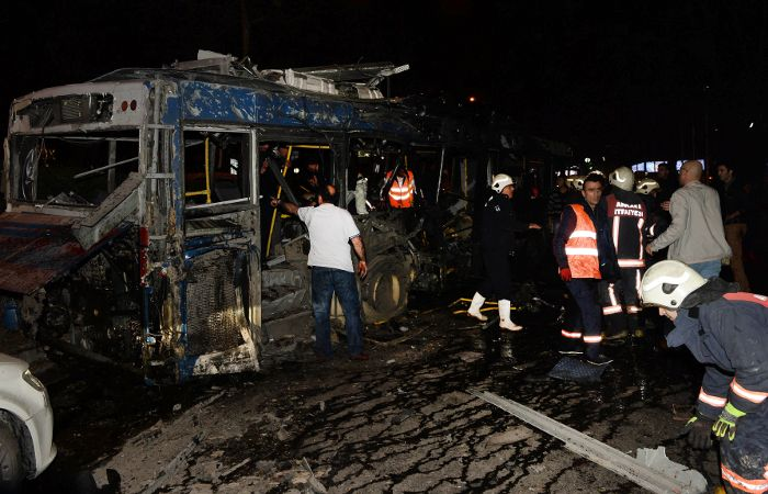La bomba explotó cerca de una parada de ómnibus de uno de los parques más importantes de Ankara.