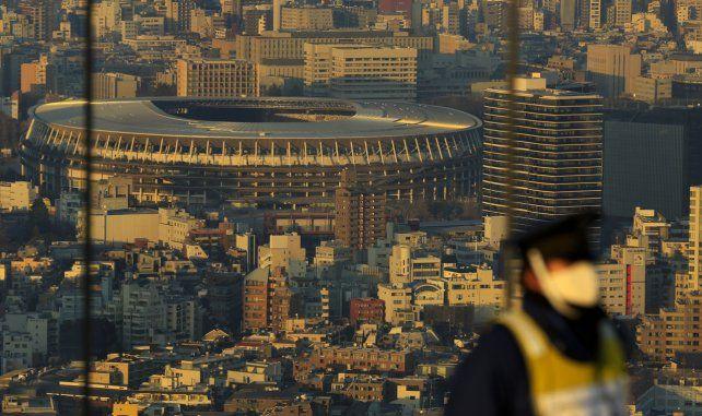 El Estadio Nacional de Japón, sede de la ceremonia de apertura  para los Juegos Olímpicos de Tokio 2020.