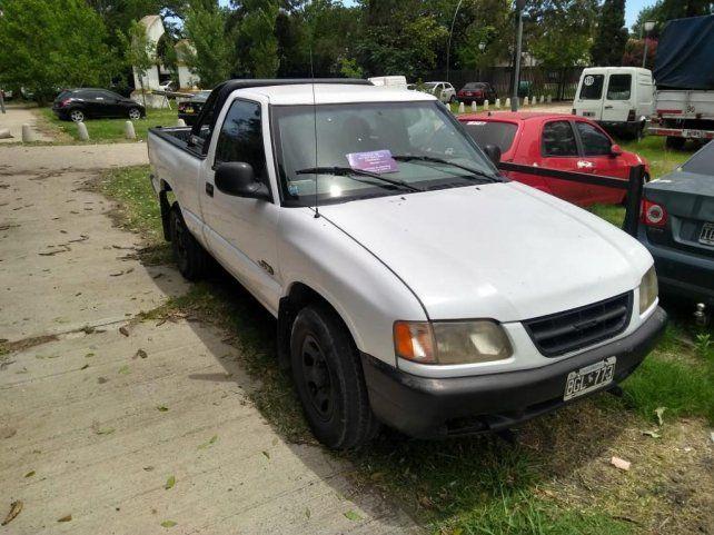 Uno de los vehículos secuestrados