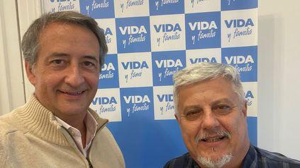 Nicolás Mayoraz y Gustavo Volpe, del partido Vida y Familia.