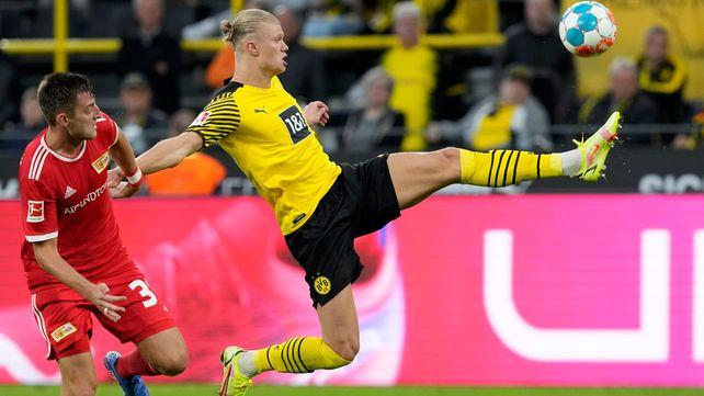Haaland suma 7 goles en las cinco fechas de la Bundesliga y en la temporada lleva 14 en diez encuentros.