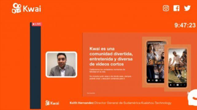 Keith Hernández, director General de Kwai para Sudamérica, explicó detalles de la app.