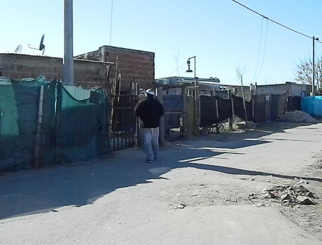 El asentamiento donde murió la joven de 16 años.