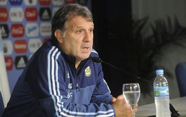 El DT del seleccionado argentino defendió el estilo del equipo y también ratificó que la idea de juego no se negocia. (DyN)