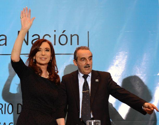 La presidenta Cristina Fernández de Kirchner y el secretario de Comercio Interior