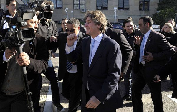 Tranquilo. Boudou dijo que dio explicaciones a todos los puntos de la acusación en la indagatoria que le hizo el juez.