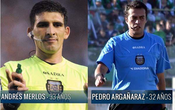 Merlos y Argañaraz estarán a cargo de los partidos que disputarán Central y Newells