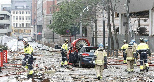 Noruega: ya son 17 muertos y decenas de heridos por el doble atentado que sacudió a Oslo