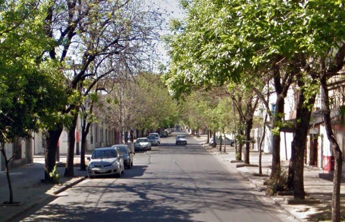 La cuadra donde actuaron los asaltantes. (imagen: captura de Street View)