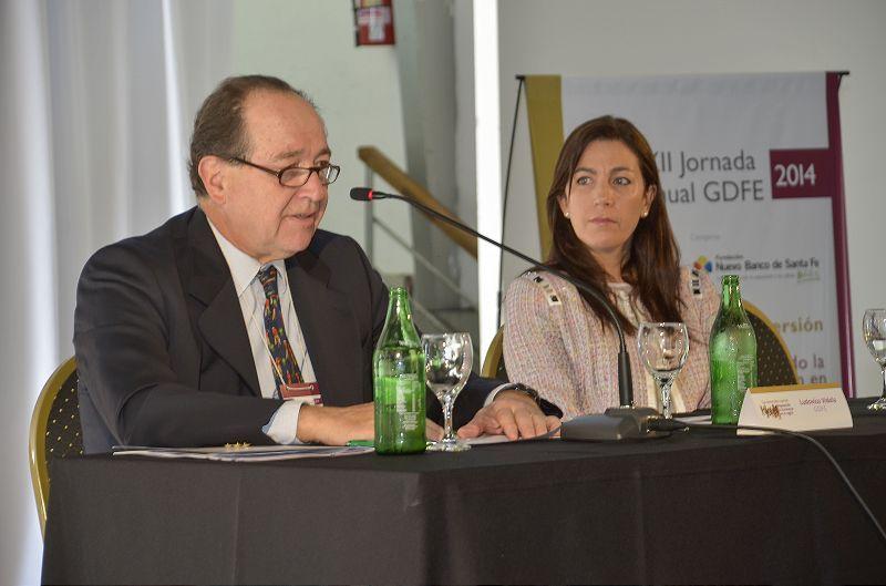 Ludovico Videla (GDFE) y Cecilia Hancevic (Fundación NBSF) tomaron parte de las jornadas.