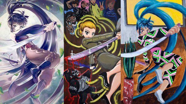 Acusan de plagio a una artista que pintó a Evita como un personaje de manga
