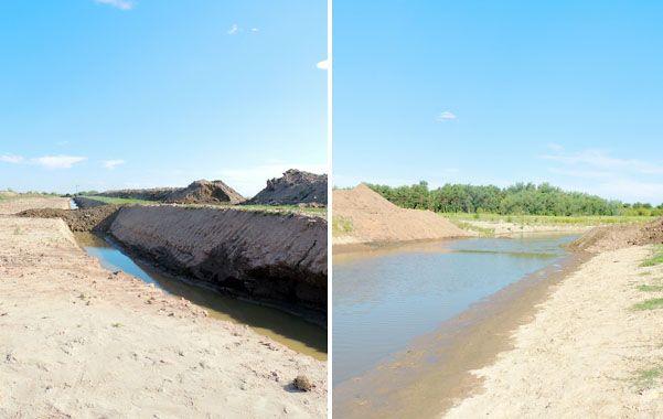 Sacaron el terraplén que cortaba el curso del río Salado en el límite de Santa Fe con Santiago.