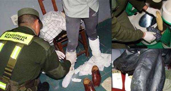 Pasajeros de un micro detenidos con cocaína