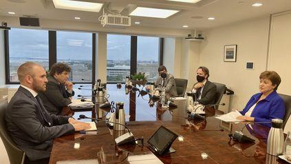 El ministro de Economía, Martín Guzmán, se reunió con la titular del Fondo, Kristalina Georgieva.
