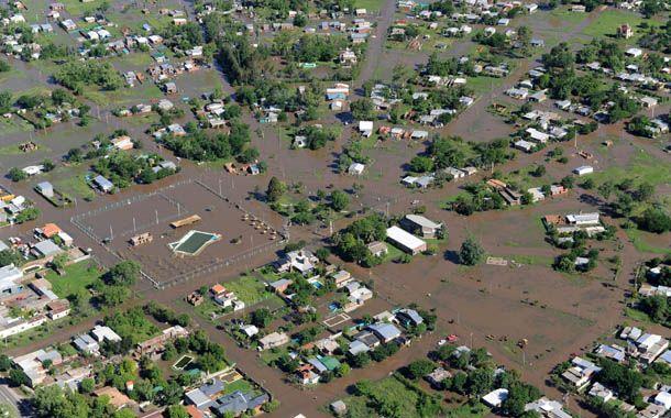 Vista aérea de una de las zonas afectadas por el temporal.