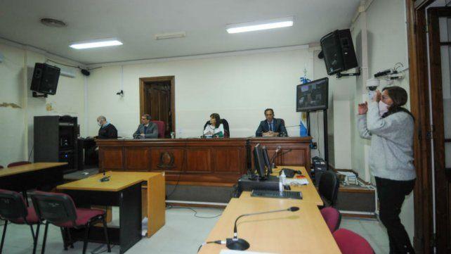 Lesa humanidad. El Tribunal que condenó a diez integrantes del Srvicio de Inteligencia (SI) durante la última dictadura. (Foto: Celina Mutti Lovera)