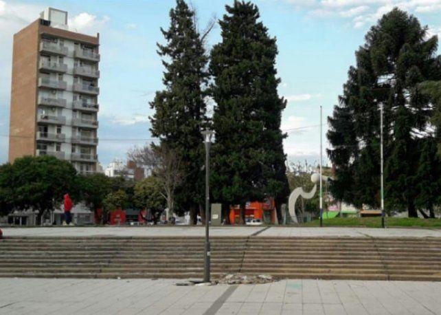 Sesión en la plaza Libertad
