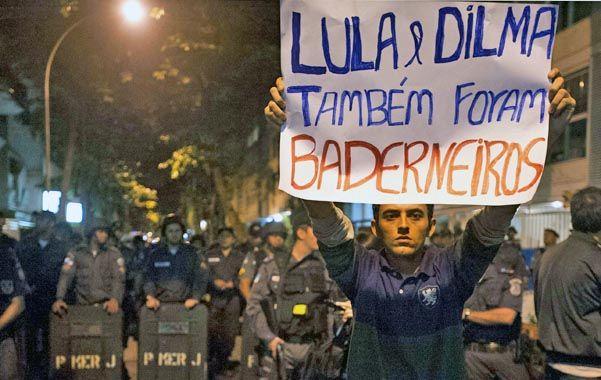"""Descontento. """"También Lula y Dilma manifestaron"""""""