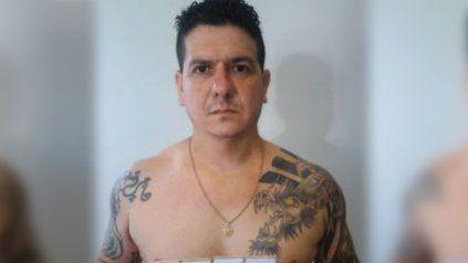 El ex policía Celer al ser apresado tras un allanamiento ilegal que realizó en la ciudad de Santa Fe.