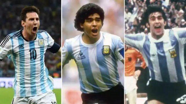 Quiere revancha. Leo perdió la final en Brasil 2014 y sigue soñando. Genio. Diego alzó la Copa del Mundo en México 1986. Matador. Mario Kempes fue decisivo en la conquista de 1978.