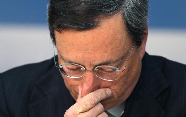 Preocupado presidente del BCE