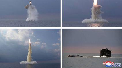 Secuencia del lanzamiento del misil submarino de Corea del Norte.