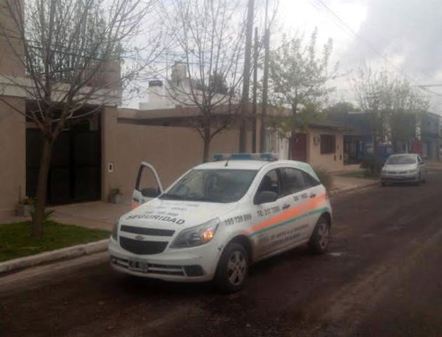 El frente del consultorio asaltado esta mañana en Alvear. (Foto: Sebastián S. Meccia)